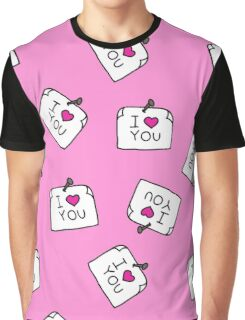 sticker with love message. doodle pattern Graphic T-Shirt