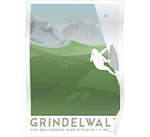 IFSC Bouldering World Cup - Grindelwald Poster