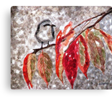 The First Snow Canvas Print