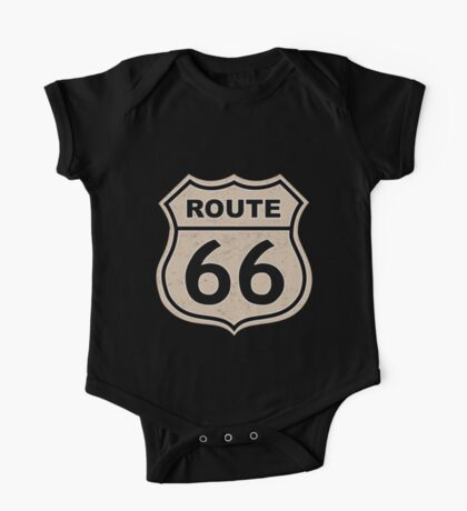 Route 66 sign illustration One Piece - Short Sleeve