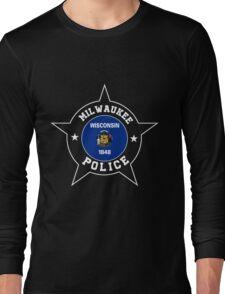 Milwaukee Police T Shirt - Wisconsin flag Long Sleeve T-Shirt