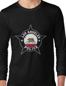 Los Angeles Police T Shirt - California flag Long Sleeve T-Shirt