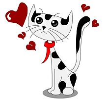 Love Cat Photographic Print