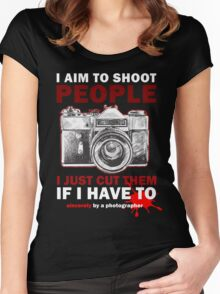 Sincerely, Photographer Women's Fitted Scoop T-Shirt