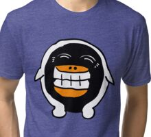 Wee Happy Penguin Cartoon  Tri-blend T-Shirt