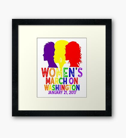 LGBTQ Gay Pride Rainbow Lesbian Womens March On Washington January 21 2017 WMW Inauguration Civil Rights Nasty Framed Print