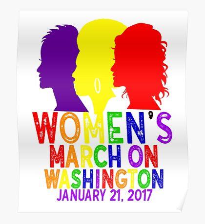 LGBTQ Gay Pride Rainbow Lesbian Womens March On Washington January 21 2017 WMW Inauguration Civil Rights Nasty Poster
