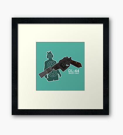 STAR WARS - SHOOT FIRST Framed Print