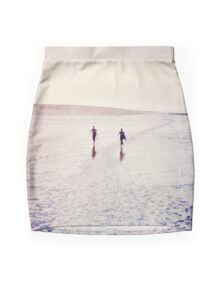 Surfers in the snow. Mini Skirt