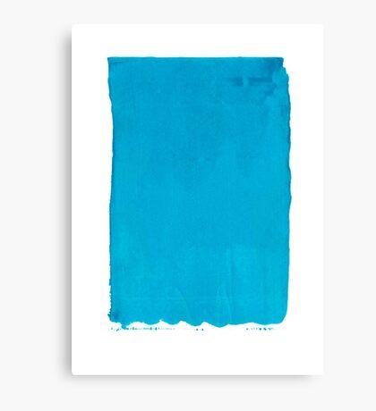 Blue Screen Print Canvas Print