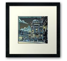 Opéra de Paris at Night Framed Print