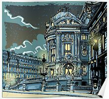 Opéra de Paris at Night Poster