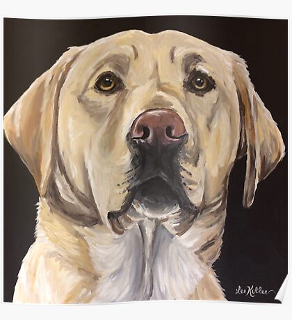 Yellow Lab  Art by Lee H Keller Poster
