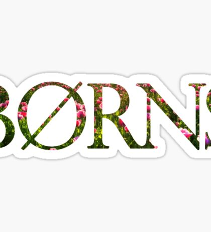 Borns Sunflowers Sticker