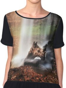 Sgwd yr Eira waterfalls Chiffon Top