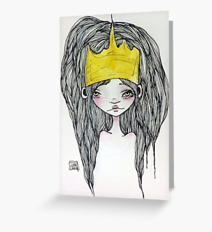 Crowned Princess Greeting Card