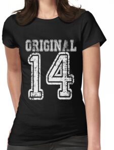 Original 14 2014 1914 T-shirt Birthday Gift Age Year Old Boy Girl Cute Funny Man Woman Jersey Style Womens Fitted T-Shirt