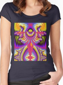 The Angelic Abstract Women's Fitted Scoop T-Shirt