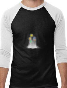 Glitch Alchemy alphabet sauce Men's Baseball ¾ T-Shirt