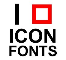 I LOVE ICON FONTS Photographic Print