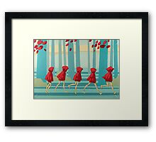 5 Lil Reds I Framed Print