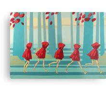 5 Lil Reds I Metal Print