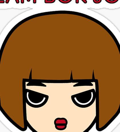 "Weightlifting Fairy Kim Bok Joo - ""TEAM BOK JOO"" Cartoon Design Sticker"