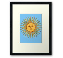 Sol de Mayo- The Sun of May Framed Print