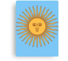 Sol de Mayo- The Sun of May Canvas Print