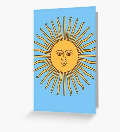 Sol de Mayo- The Sun of May Greeting Card