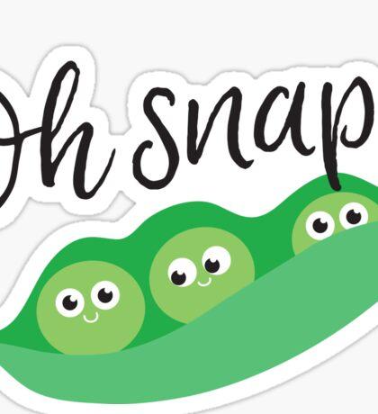 Peas. Oh Snap! Sticker
