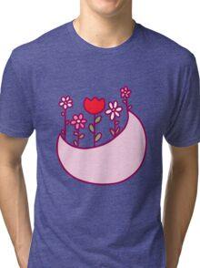 Moon Flowers Tri-blend T-Shirt