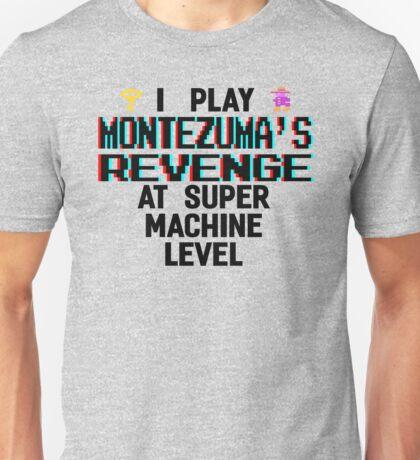 Montezuma's revenge, black font (atari 3D) Unisex T-Shirt