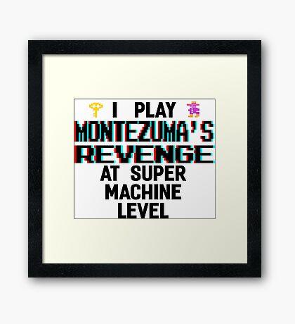 Montezuma's revenge, black font (atari 3D) Framed Print
