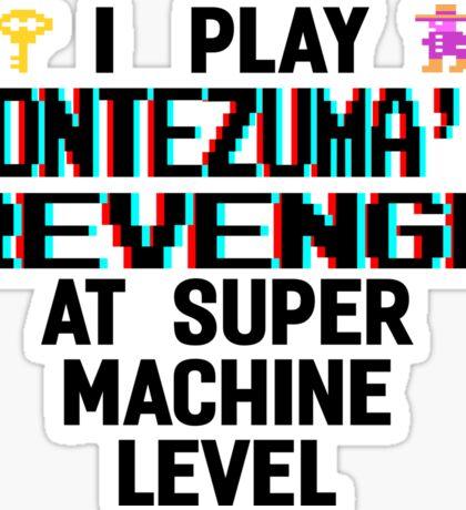 Montezuma's revenge, black font (atari 3D) Sticker
