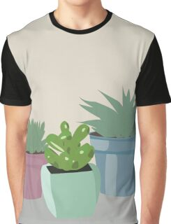 "Potted Succulent ""Still life"" artwork Graphic T-Shirt"