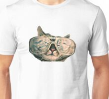 Cat with glasses Unisex T-Shirt