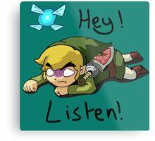 Link & Navi - The Legend Of Zelda Metal Print