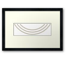 First Lady Pearls Framed Print