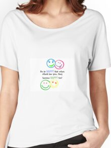 HAPPY FACES !!! Women's Relaxed Fit T-Shirt