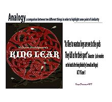 King Lear Analogy quote by KayeDreamsART