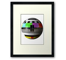 3D TV test pattern  Framed Print