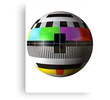3D TV test pattern  Canvas Print