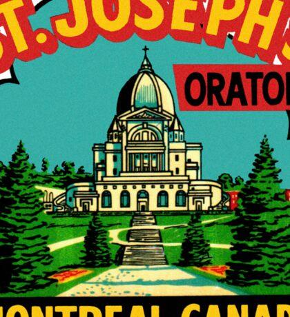 St Joseph's Oratory Montreal Canada Vintage Travel Decal Sticker
