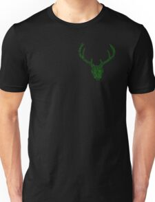 Geometric Neon Stag Skull  Unisex T-Shirt