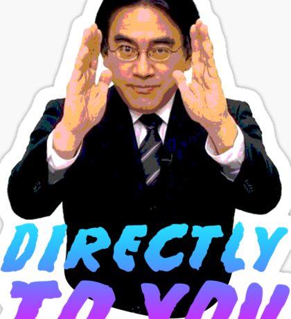 Directly To You - Satoru Iwata Sticker