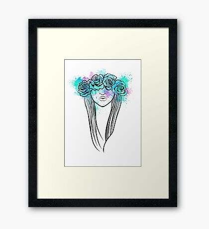 Elegant Mask - Light Background Framed Print