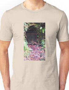 British Woodland in Autumn - Secret Tunnel into the Darkness Unisex T-Shirt