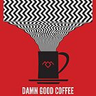 Twin Peaks Phone Cases | Damn Good Coffee by Dean Sauls