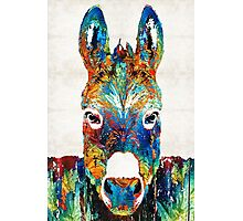 Colorful Donkey Art - Mr. Personality - By Sharon Cummings Photographic Print